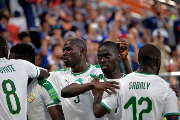 Футболисты сборной Сенегала
