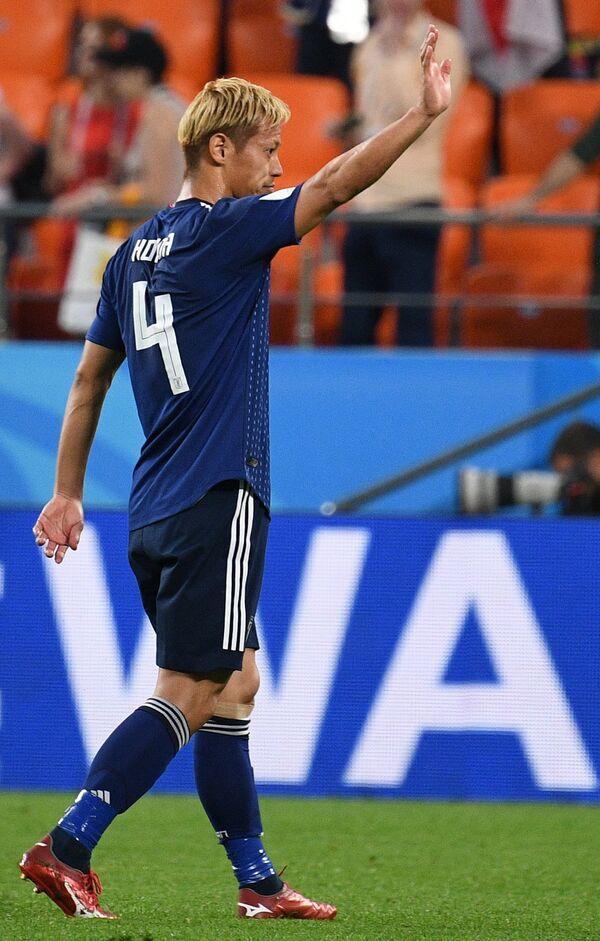 Хавбек сборной Японии Кэйсукэ Хонда