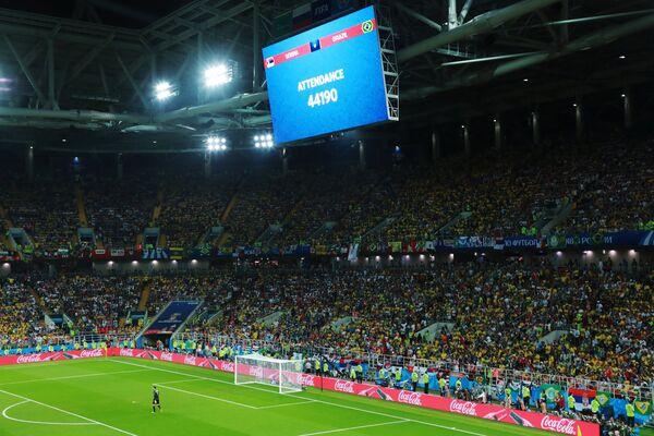 Экран с информацией о количестве зрителей