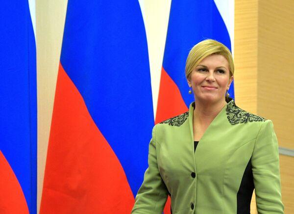 Президент РФ В. Путин встретился с президентом Хорватии К. Грабар-Китарович