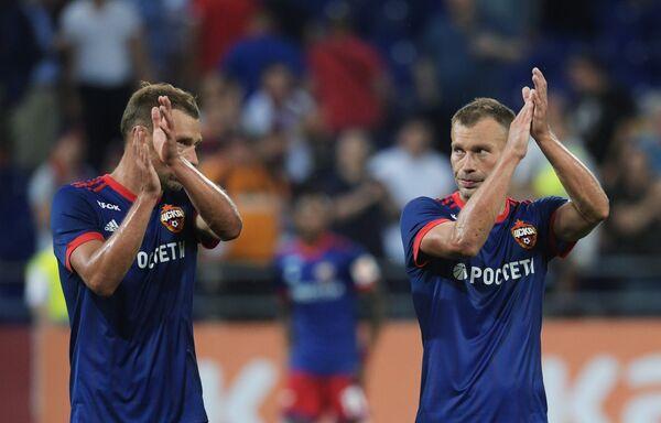 Братья Березуцкие после матча ЦСКА - АЕК