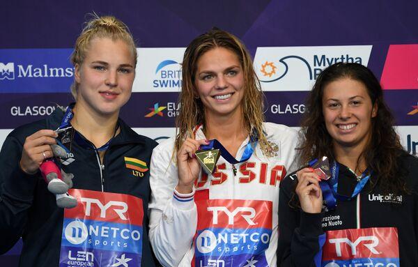 Рута Мейлютите, Юлия Ефимова и Арианна Кастильони (слева направо)