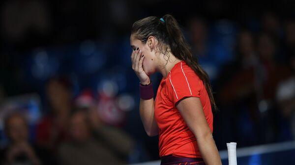 Дарья Касаткина в финальном матче одиночного разряда ВТБ Кубка Кремля против Жабер Онс