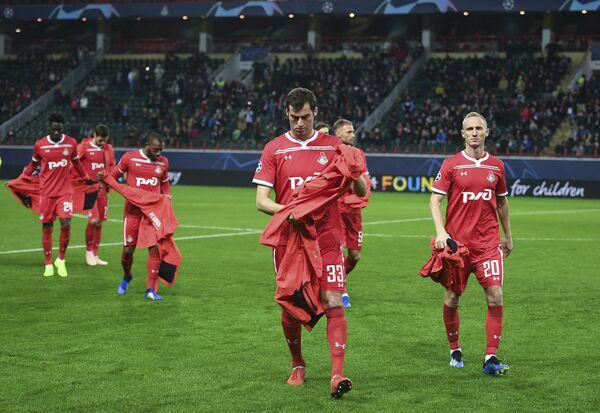 Футболисты Локомотива после окончания матча