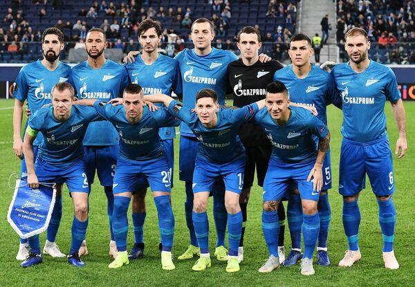 Футболисты Зенита перед матчем с Копенгагеном