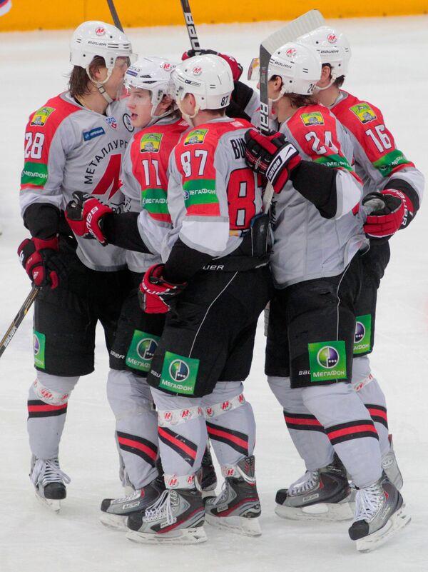 Хоккей. КХЛ. Матч СКА (Санкт-Петербург) - Металлург (Новокузнецк)