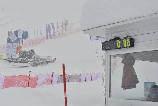 Непогода на соревнованиях по ски-кроссу