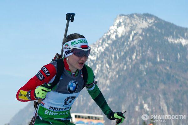 Белорусская спортсменка Дарья Домрачева