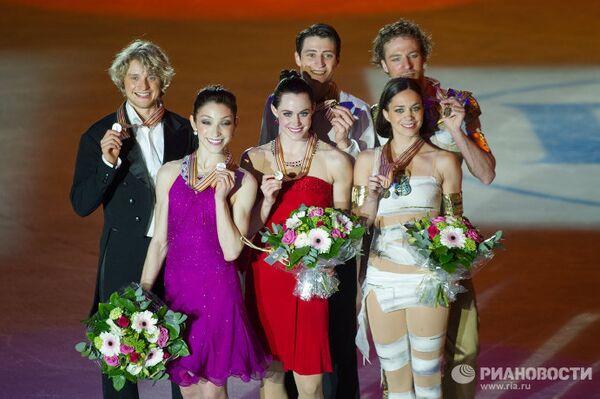 Призеры соревнований в танцах на льду чемпионата мира по фигурному катанию