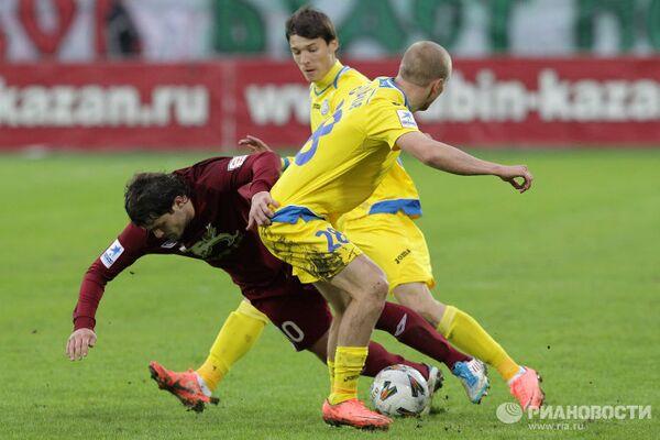Игровой момент матча Рубин - Ростов