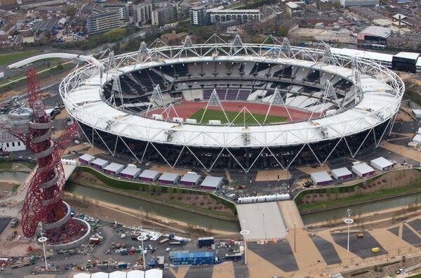 Вид на Олимпийский стадион в Лондоне