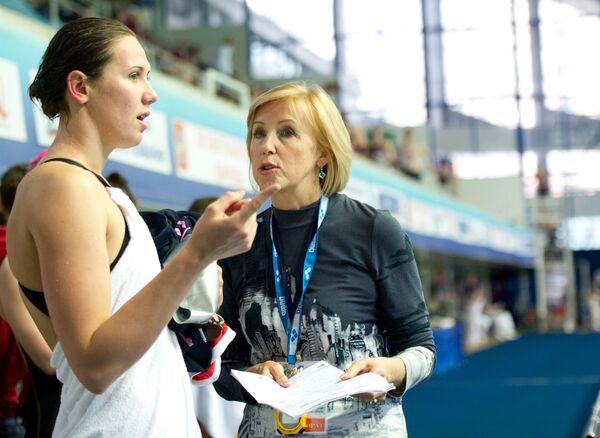 Анастасия Зуева (слева) со своим тренером Натальей Козловой