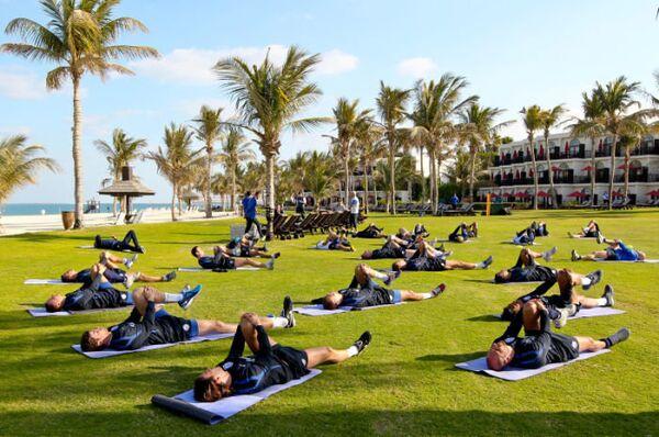 Тренировка ФК Зенит в Дубае после отпуска