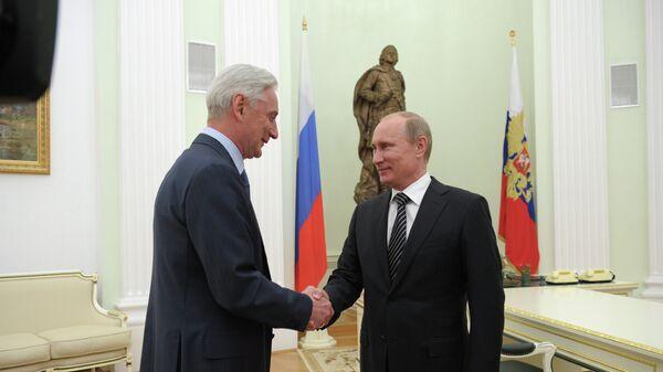 Владимир Путин и Зинэтула Билялетдинов (справа налево)