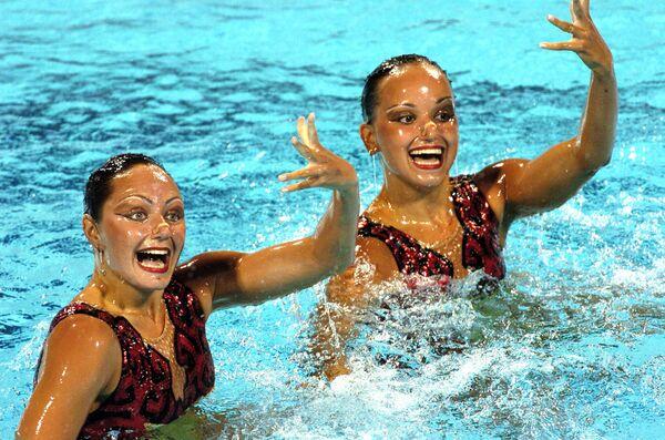 А.Давыдова и А.Ермакова - олимпийские чемпионки в синхронном плавании