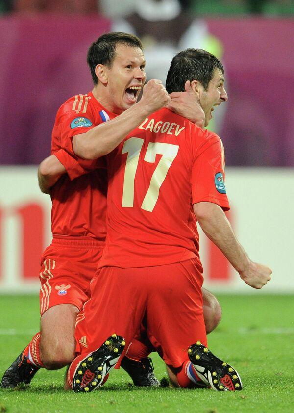 Константин Зырянов и Алан Дзагоев ( слева направо)