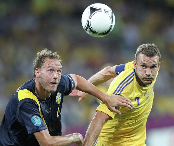 Андреас Гренквист и Андрей Шевченко (слева направо)
