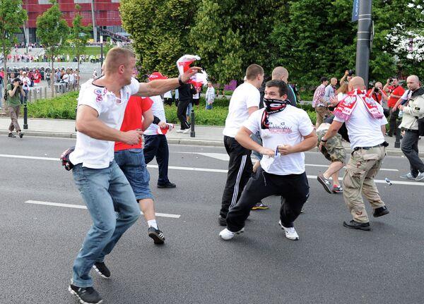 Польские и российские болельщики
