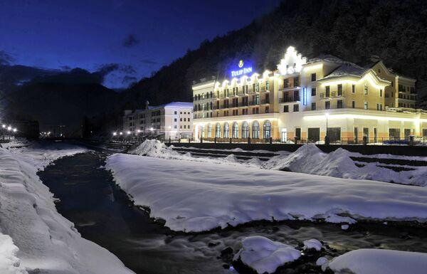 Корпуса гостиничного комплекса Роза Хутор в Красной поляне