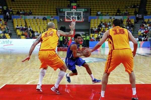Игровой момент матча Доминиканская республика - Македония
