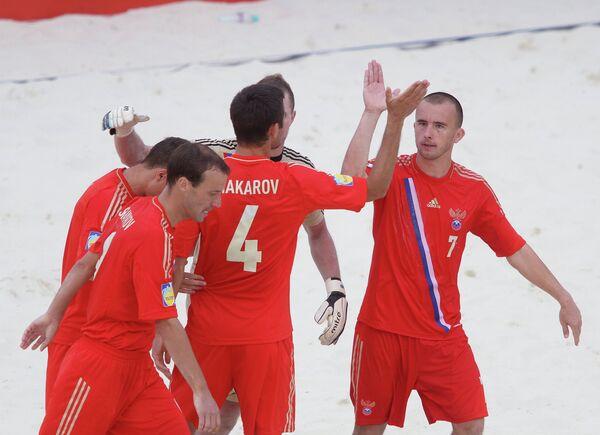 Игровой момент матча Нидерланды - Россия