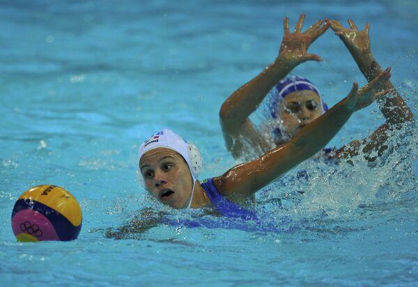 Игровой момент матча сборных Италии и России