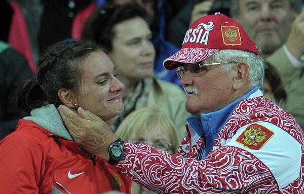 Елена Исинбаева и Евгений Трофимов