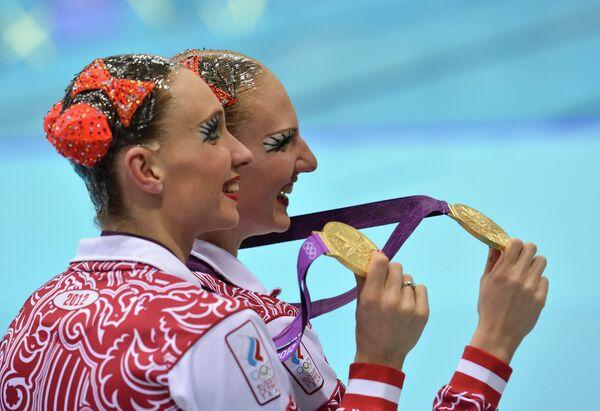 Российские синхронистки Наталья Ищенко и Светлана Ромашина