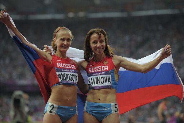 Мария Савинова и Екатерина Поистогова (справа налево)