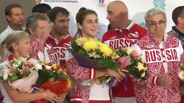 Возвращение сборной России с Олимпийских игр в Лондоне