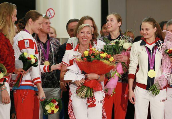 Прилет сборной России с Олимпийских игр в Лондоне