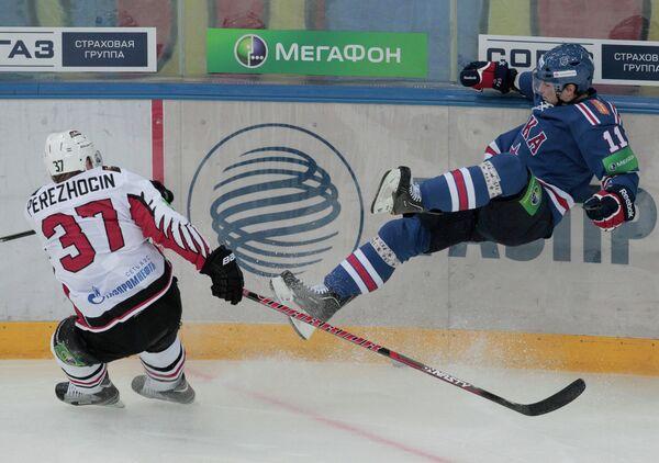 Игровой матч СКА (Санкт-Петербург) - Авангард (Омск)