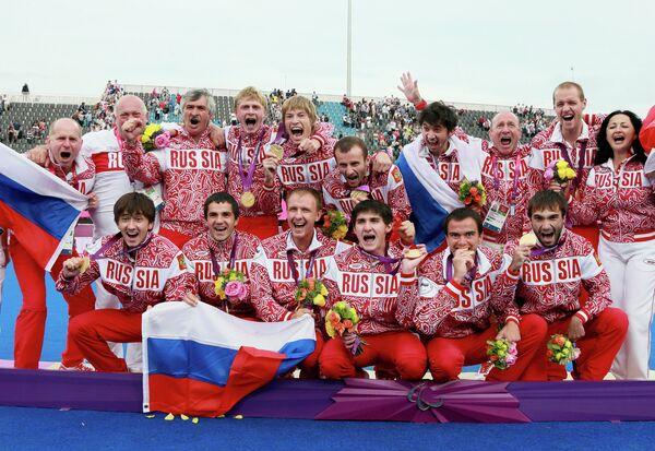 Футболисты сборной России на паралимпиаде