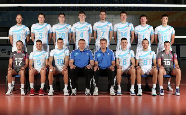 Игроки волейбольного клуба Зенит-Казань