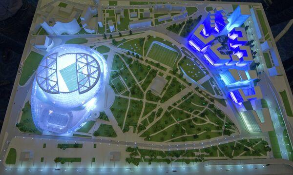 Макет нового реконструированного Центрального стадиона Динамо