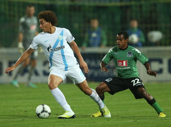 Игровой момент матча Краснодар - Зенит