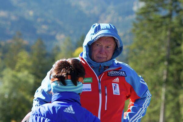 Тренировка женской сборной России в Рупольдинге