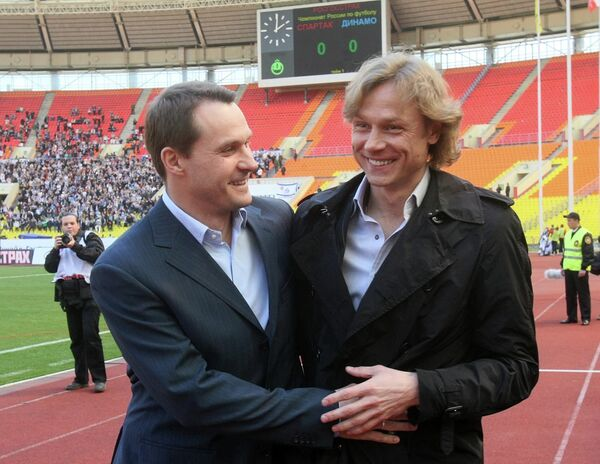Андрей Кобелев и Валерий Карпин