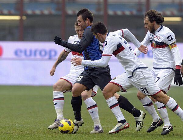 Игровой момент матча Интер - Дженоа