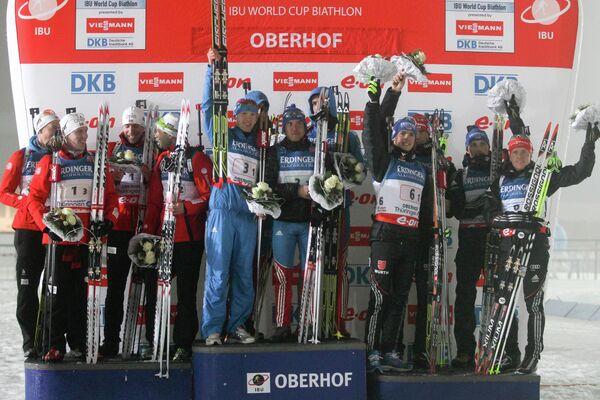 Призеры четвертого этапа Кубка мира по биатлону в Оберхофе