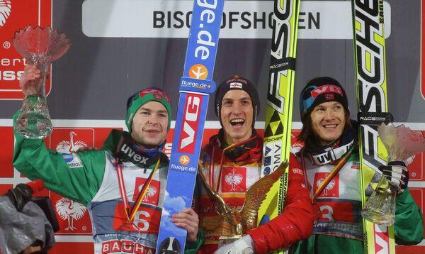 Андерса Якобсен, Грегор Шлиренцауэр и Томас Хильде (слева направо)