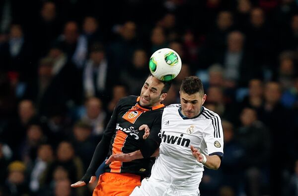 Игровой момент матча Реал-Валенсия
