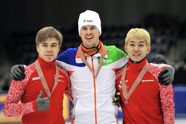 Виктор Ан, Фрек ван дер Варт, Семен Елистратов (справа налево)