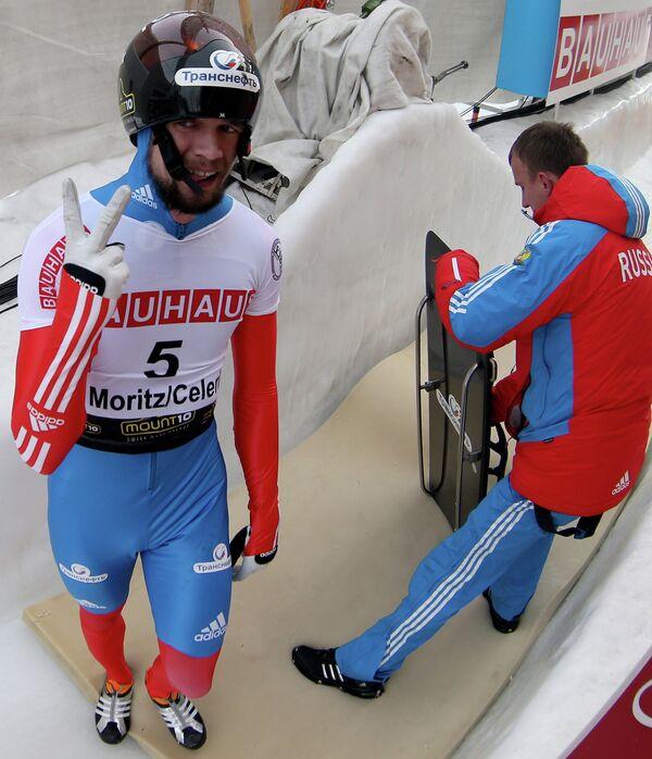 Российский спортсмен Александр Третьяков (слева)