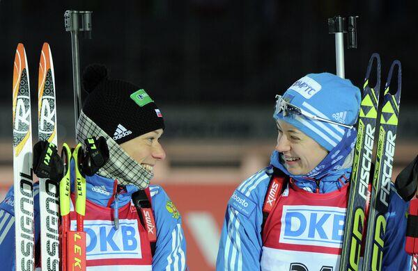Россиянки Ольга Зайцева и Ольга Вилухина (слева направо)