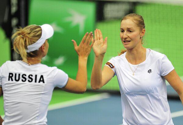 Елена Веснина (слева) и Екатерина Макарова