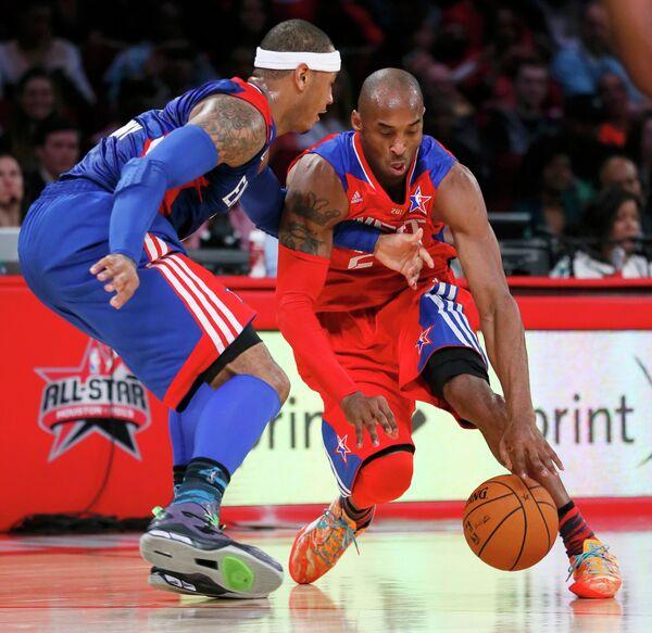 Игровой момент матча Всез Звезд НБА