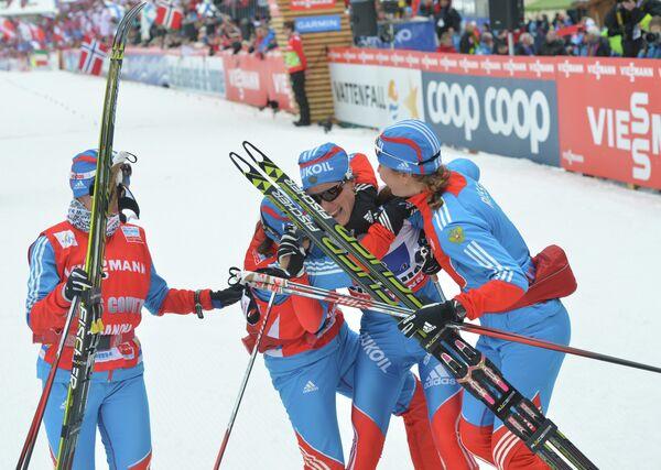 Российские лыжницы на этапе Чемпионата Мира в эстафетной гонке