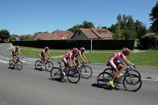 Тренировка российской команды Катюша