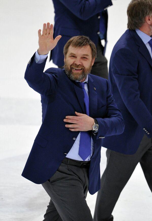Главный тренер Динамо Олег Знарок после матча Динамо - СКА